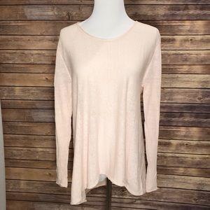 Eileen Fisher Linen/nylon scoop neck sweater. SzXS